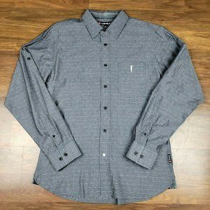 Airwalk Mens Size Large Button Down Casual Gray